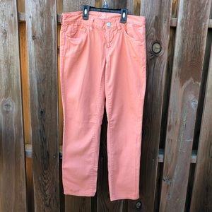 LOFT Ann Taylor peach color boyfriend jeans